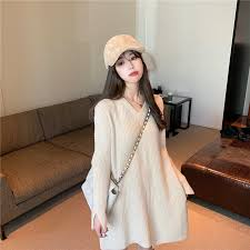 Sweater skirt new <b>loose outer pullover</b> mid-length sweater | Shopee ...