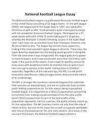 national football league essay
