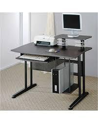 home office computer workstation. coaster metal home office computer workstation desk black