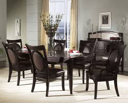 room simple dining sets:  sweet signature solid dining set with black color decor and elegant design full size