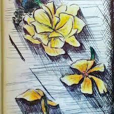 Миниатюра <b>упавшие цветы</b>. Графика и рисование.   Painting, Art ...