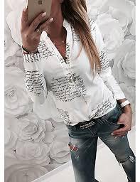 2019 <b>Hot Sale Blouses</b> Women's Basic Slim <b>Shirt</b> - Letter Blusas ...
