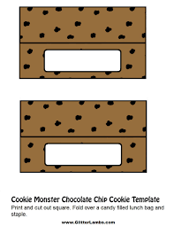 chocolate chip cooke printable template chocolate chip cookie lunch bag template no words