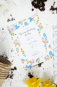 alice and lois printable spring planting party invitations printable spring planting party invitations