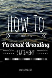 blog tips my personal branding statement