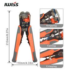 IWISS Wire Stripping <b>Tools</b> HS D2 Cable Cutter Crimper Automatic ...