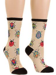 Apothecary Insects <b>Beetle</b> Socks in Sand | Socks, Heel caps, Fashion