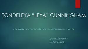 risk management addressing environmental forces risk management addressing environmental forces
