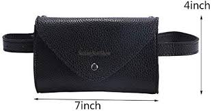 Women's <b>Fashion Elegant Leather</b> Black Waist Fanny Belt Pack ...