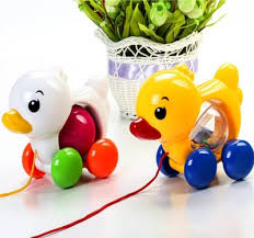 <b>Baby</b> Rattles Pull <b>Rope</b> Duck <b>Dog</b> Animals Hand Jingle Shaking Bell ...