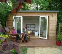 perhaps its a small commercial electric garage door with large windows built in for viewing your yard when its closed a closed garden office can be best garden office