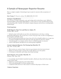 resume newspaper writer effective reporter resume examples to help you eager world annamua effective reporter resume examples to help