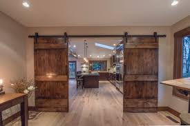 double entry barn doors rustic home office build rustic office