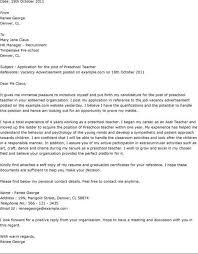 cover letter preschool teacher resume examples preschool teacher