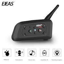 <b>EJEAS V6 Pro</b> Helmet Intercom <b>Bluetooth</b> Headset Microphone Kit 6 ...