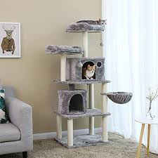 FEANDREA Multi-Level <b>Cat Tree with Sisal</b>-Covered Scratching ...