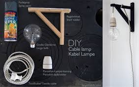 diy cable lamp from a valter shelf holder cable lighting ikea