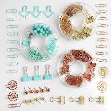 <b>TUTU Free shipping</b> Binder clips push pins gold and <b>rose</b> gold ...