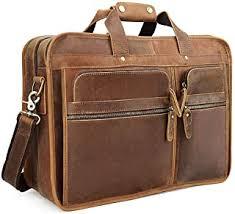 Leather Laptop Briefcase - Amazon.co.uk