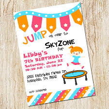 sky zone trampoline party invitation sky zone birthday invitation digial file or printed cards jumping birthday party