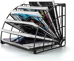 J&Y Fan-shaped <b>Desk File</b> Organizer, <b>Iron Desktop</b> 6 <b>Grid File</b> Bar ...