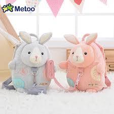 Metoo Kids Baby Plush Bag Animals <b>Cartoon</b> Kid Doll Toy Children ...