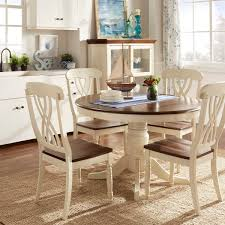 round back dining chairs tribecca home mackenzie country style two tone round scroll back