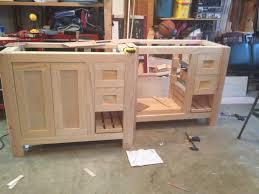 open bathroom vanity cabinet: awesome design ideas build bathroom vanity yourself a floating with open storage below top video corner