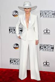 did lady gaga s amas pantsuit have a political message lady gaga on red carpet at the amas in los angeles