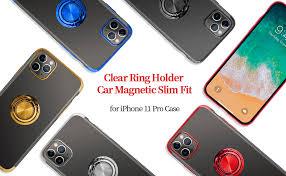 GRKJGytech iPhone 11 Pro Case Ring,Clear Holder Car <b>Magnetic</b> ...