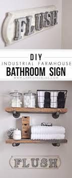 wood sign glass decor wooden kitchen wall:  brilliant diy decor ideas for your bathroom diy joy diy bathroom decor ideas industrial farmhouse bathroom sign cool do it yourself bath ideas on a