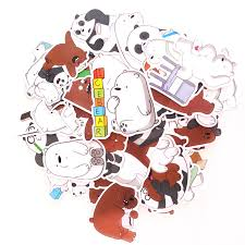 36 pcslot <b>Cartoon Anime</b> We Bare <b>Bear</b> Sticker Toys <b>Cute Bear</b> ...