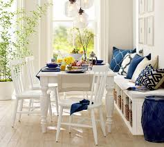 small dining bench: think casual for small dining spaces a bench on the side of this all