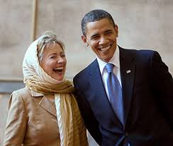 Image result for obama and hillary laughing