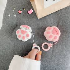 Silicone Wireless Bluetooth headset <b>Case for Airpods Cute</b> Cat ...