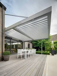 roof extension over patio connect an umbris patio roof to your building without any vertical sup