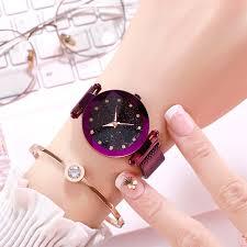 Magnetic Luxury Women Watches Ladies <b>Starry</b> Sky Clock <b>Fashion</b> ...