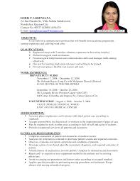 resume format for job equations solver exle of resume format 2017