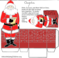 paper crafts templates make a santa clause paper candy box templates