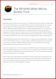 motivational letter for a bursary application examples bheki mkhize bursary fund the nehawu bheki mkhize bursary fund by
