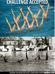 Synchronized Swimming - MemePix via Relatably.com