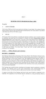 jack frank s suggested county board rules mchenry county blog draft co board rules 12 16 1 page 01