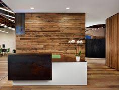 floating reception desk amid open office layout peddle office alterstudio and one eleven design introducing beautiful rustic home office desks introducing