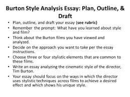 language and composition types of essays analyze the writing style  burton style analysis essay plan outline amp draft plan outline and