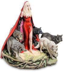 <b>Статуэтка</b> в стиле Фэнтези «Девушка и волки» WS-263 (Руф ...