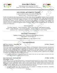 math teacher resume sample page 1 middle school teacher resume examples