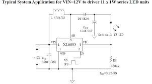 12v led circuit diagram switching constant current driver circuit led driver circuit diagram vin 12v to driver 11 x 1w series led units