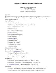 insurance underwriter resume insurance underwriter resume account Example Resume And Cover Letter