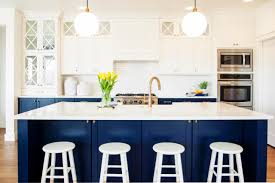 kitchen cabinets judith balis crazy for color navy blue cabinets in contemporary kitchen light blue blue cabinet kitchen lighting