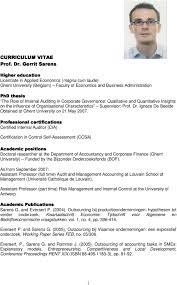 curriculum vitae prof dr gerrit sarens pdf in corporate governance qualitative and quantitative insights on the influence of organisational characteristics supervisor